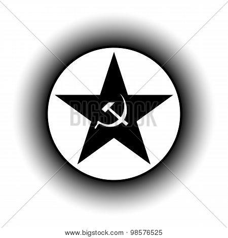 Communism Star Button.
