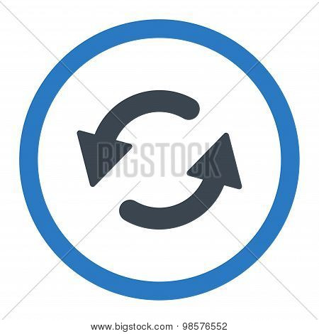 Refresh Ccw flat smooth blue colors rounded vector icon