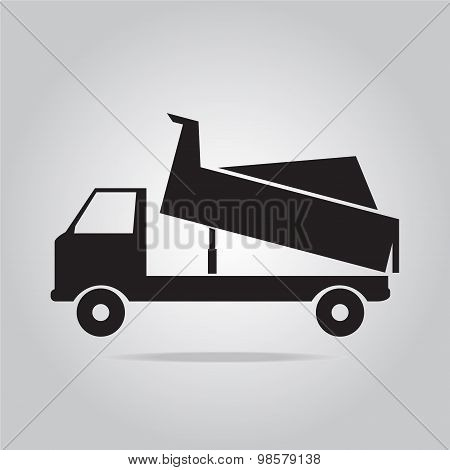Dump Truck Symbol Illustration