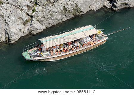 Sightseeing boat in Yosino river