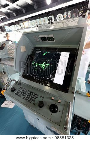 Japanese warship - radar screen