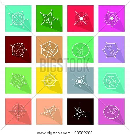 Collection Of 16 Business Geometry Chart Banner