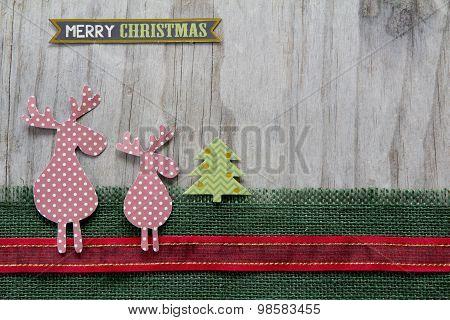 Merry Christmas Reindeer - Horizontal