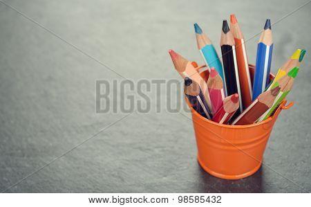 Pencils In A Bucket