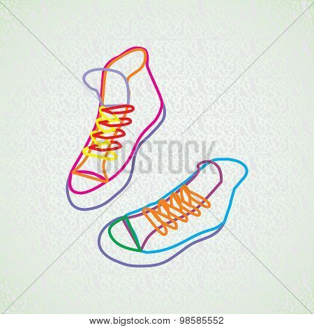 Color Contour Of Sneakers