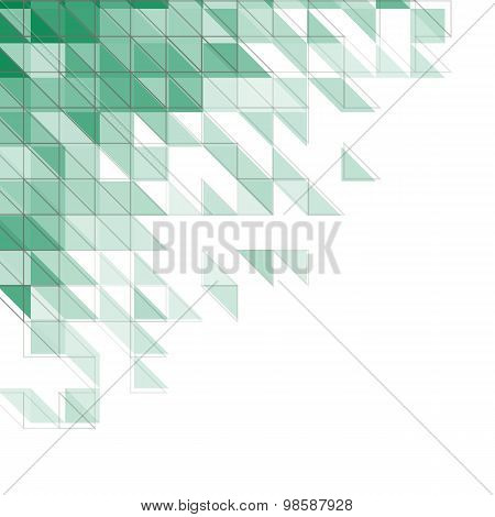 Abstract Geometric Background With Triangles, Squares And Lines