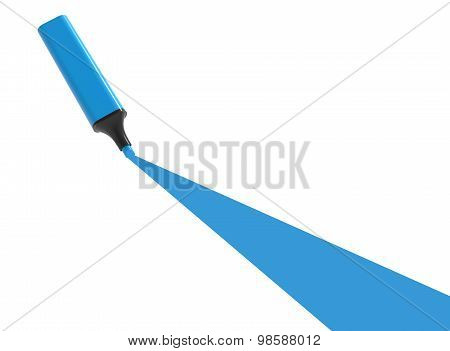 Blue Highlighter With Underline