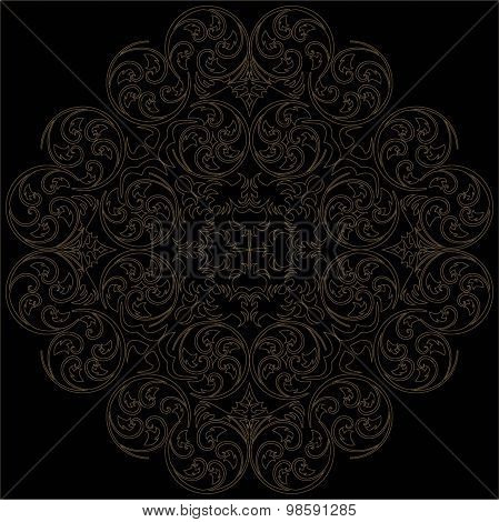 Abstract Background With Damask Pattern