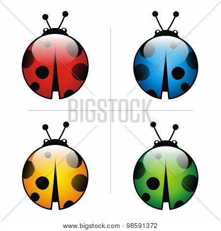 Ladybug Logo Abstract Leaf Illustration Leaves