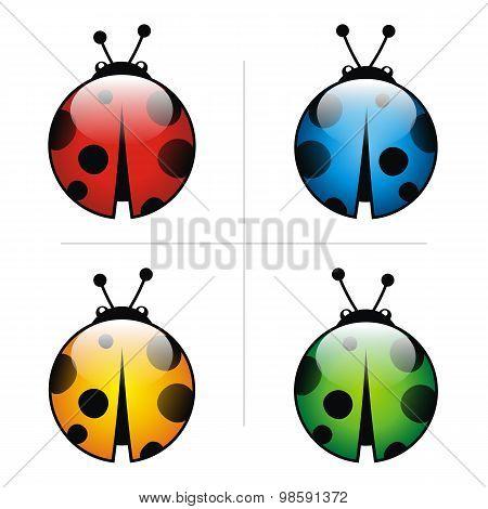 Ladybug Logo Abstract Leaf Illustration Leaves