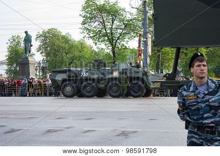 Btr-80 On Parade Of Victory Day On May 9, 2010 In Moscow