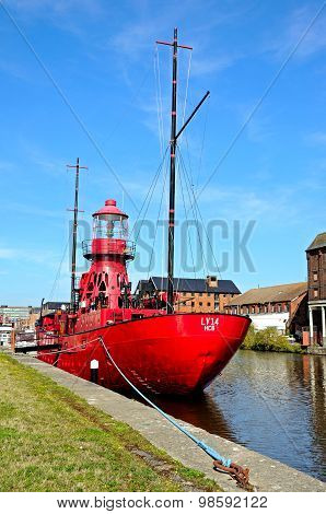 Red Sula Lightship, Gloucester.