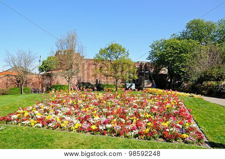 Shrewsbury castle gardens.