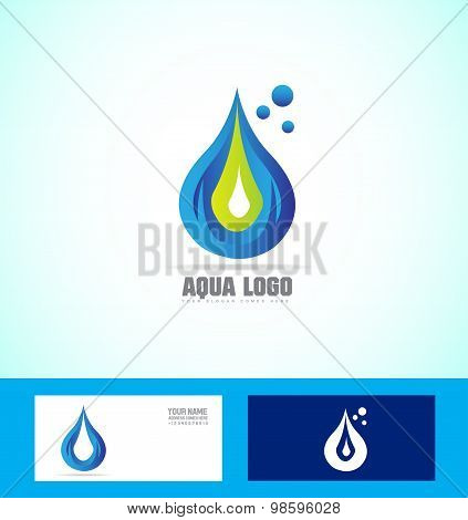 Water Drop Droplet Logo Icon