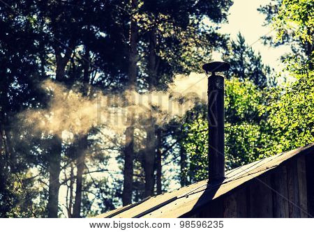 The Smoke Coming From The Chimney