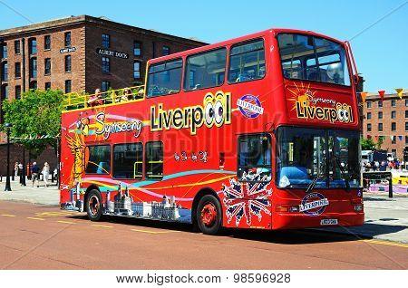 City tour bus, Liverpool.