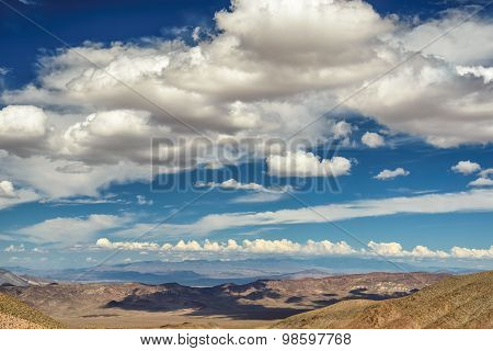 Beautiful clouds over the Death Valley
