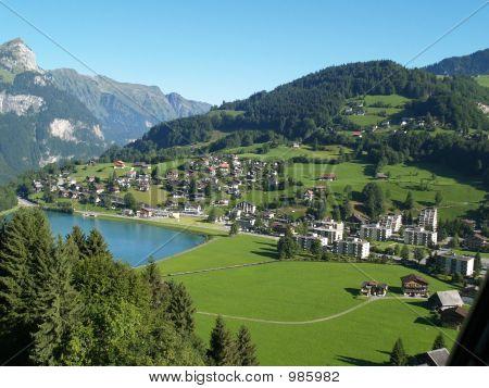 A Mall Village In Alps