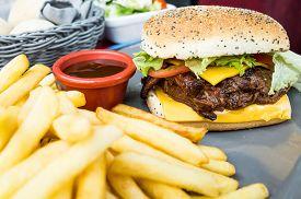pic of burger  - Cheese burger  - JPG