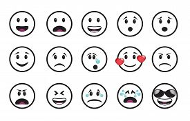 pic of angry smiley  - Set of smiley icons in different emotions and moods - JPG