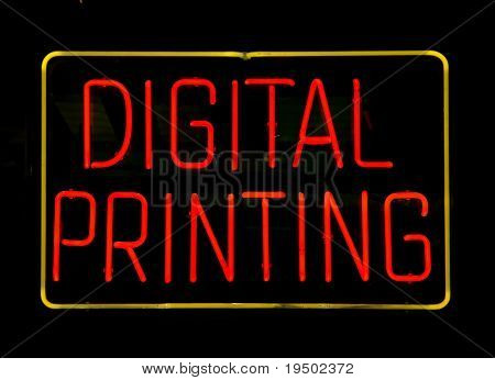 Neon Digital Printing Sign