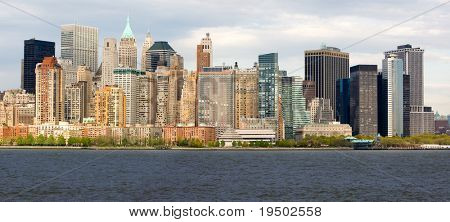 Panorama of Lower Manhattan's Financial District