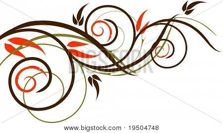 Vector Floristic ornament isolated (See raster version  Also In My Portfolio)