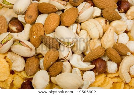 Almonds and pistachio nuts