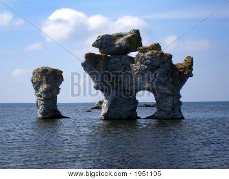 Limestone Formation - Gotland Rauk