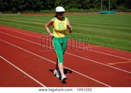 Active senior Woman Joggen