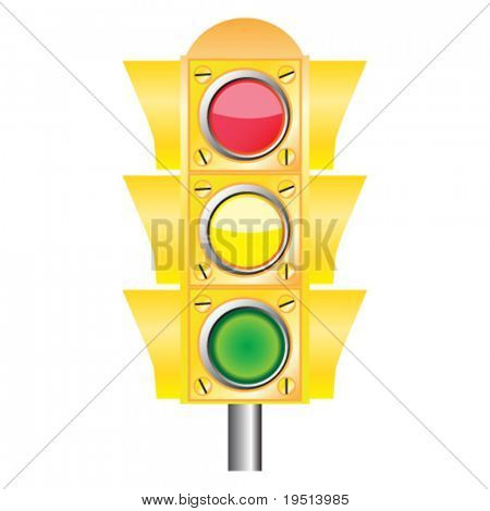 Traffic light - vector illustration