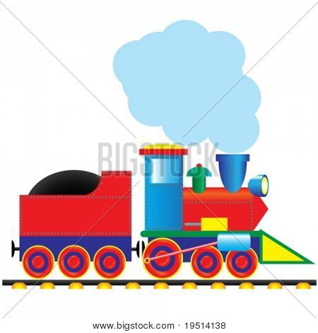 Vector steam locomotive. Vintage style
