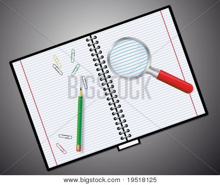 Notebook - vector illustration. very easy to edit vector file