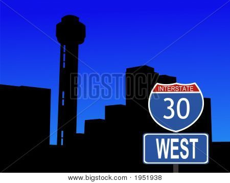Dallas And Interstate Sign