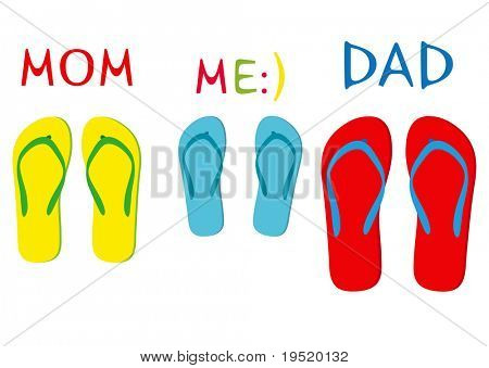 Flip-flops - an illustration for your design project.