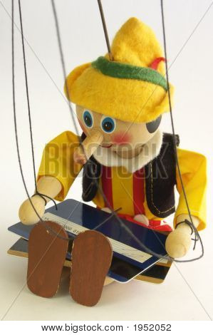 The Wooden Puppet And Credit Cards
