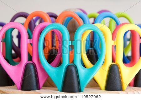 school supplies - colorful scissors
