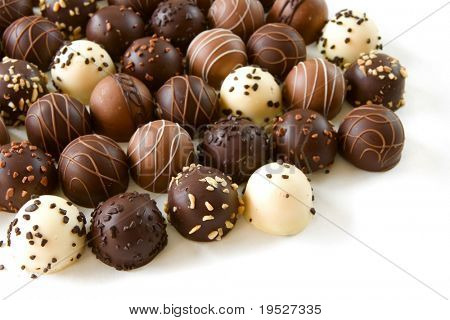 assorted chocolate truffle candies