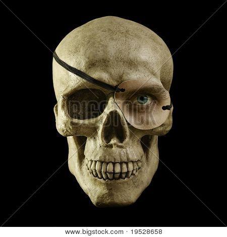 one eyed skull