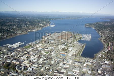 Aerial View Of Olympia, Washington
