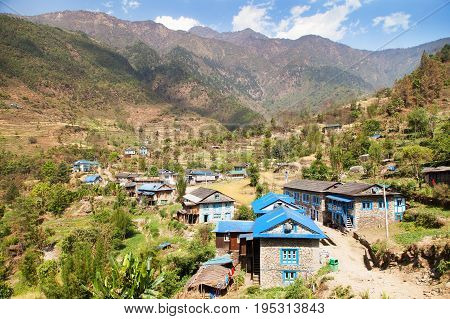 Kharikhola village Nepalese