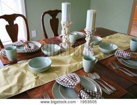 Dining room table setting stock photo stock images bigstock - Dining room table settings ...