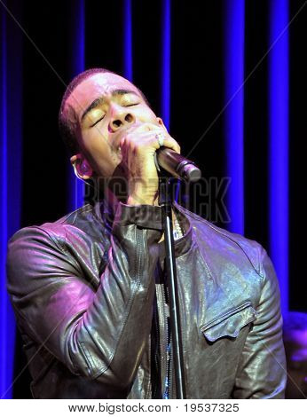 TOKYO - DECEMBER 6: Grammy-nominated R&B and pop singer Mario (Dewar Barrett) performs at the Billboard Live Club on December 6, 2008 in Tokyo.  Mario's fourth album is due out in early 2009.