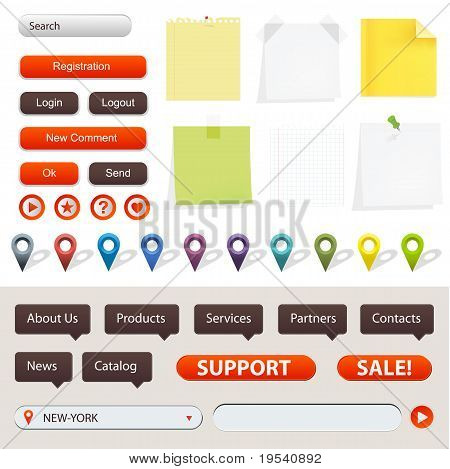 Gps Navigation And Website Elements