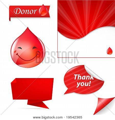Conjunto de gota de sangre