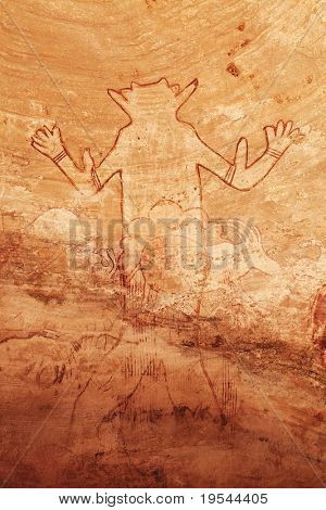 Famous prehistoric rock paintings of Tassili N'Ajjer, Algeria