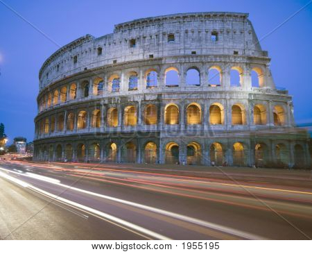 Collosseum Rome Italy Night