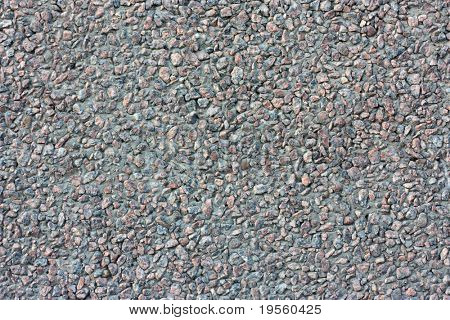 Granite gravel wall - natural texture