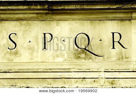 S P Q R - the symbol of the Roman Empire