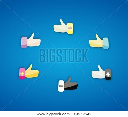 Thumbs Up Hand Gesture Icons